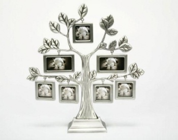 Family Tree Photo Frame, Silver