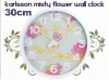 Wall Clock Misty Flower Colour Splash