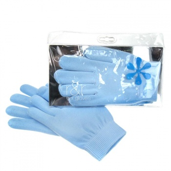 R & R Gel Gloves, Moisturise and Revive, Blue
