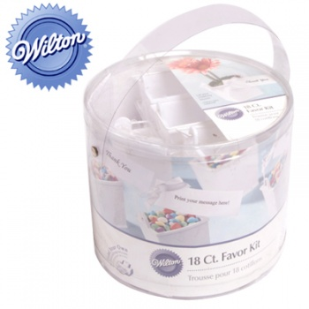 Wilton Favour Kit with 18 Pails, Ribbon, Printable Tags