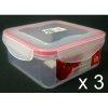 3 x Click to Seal Food Containers 800ml