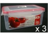 3 x Click to Seal Food Containers 1300ml