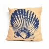 Marine Cushions - Scallop Design, Coastal Theme