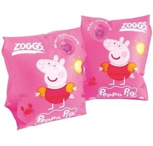 Zoggs Peppa Pig Armbands, Pink 1-3 Years