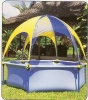 Jessie Metal Frame Pool with Shade & Jet Spray kids pool