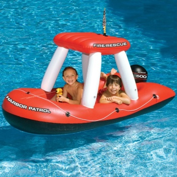 Swimline Fireboat Pool Squirter, Fire Boat Pool Inflatable
