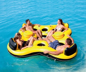 Bestway Rapid Rider Islander 4 seater, with cooler  2.57m x 2.57m